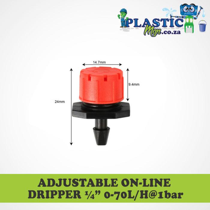 Plasticman Adustable On-line Dripper