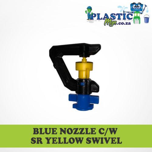 Blue Nozzel c/w sr yellow Swivel
