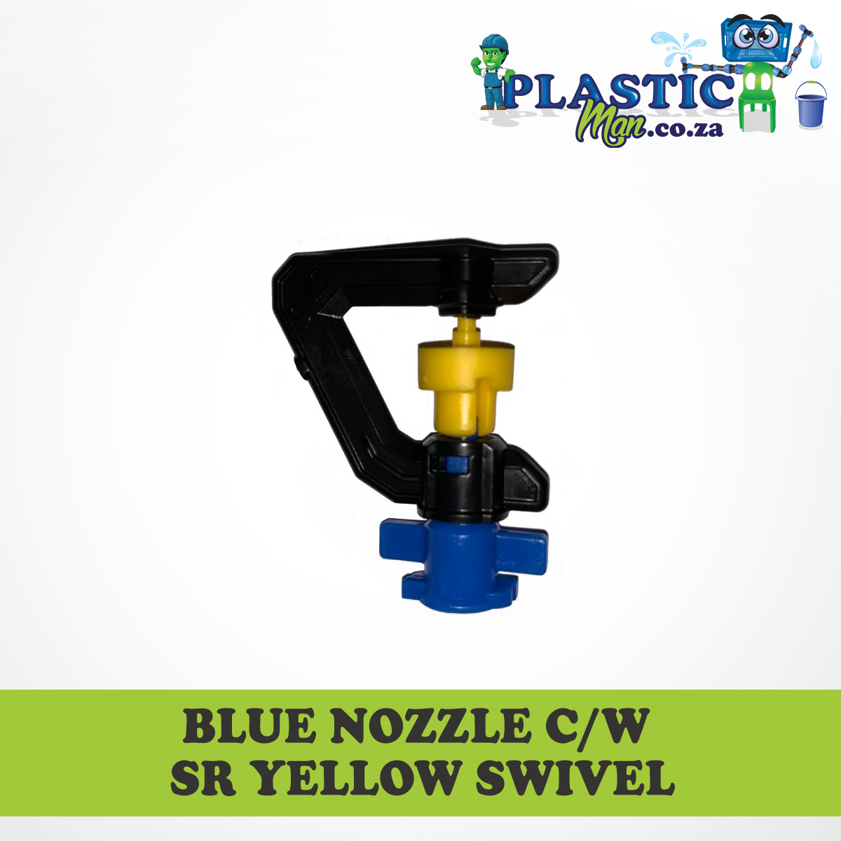 Blue Nozzel c/w sr yellow Swivel