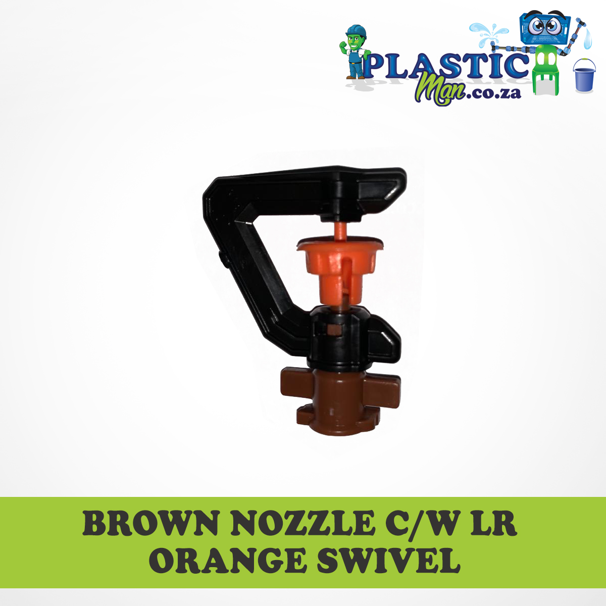 Brown Nozzel c/w lr Orange Swivel