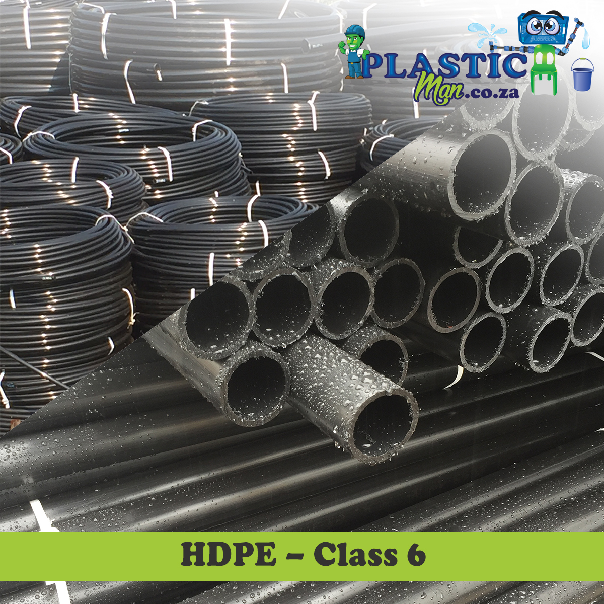 Plasticman HDPE Class 6 pipe