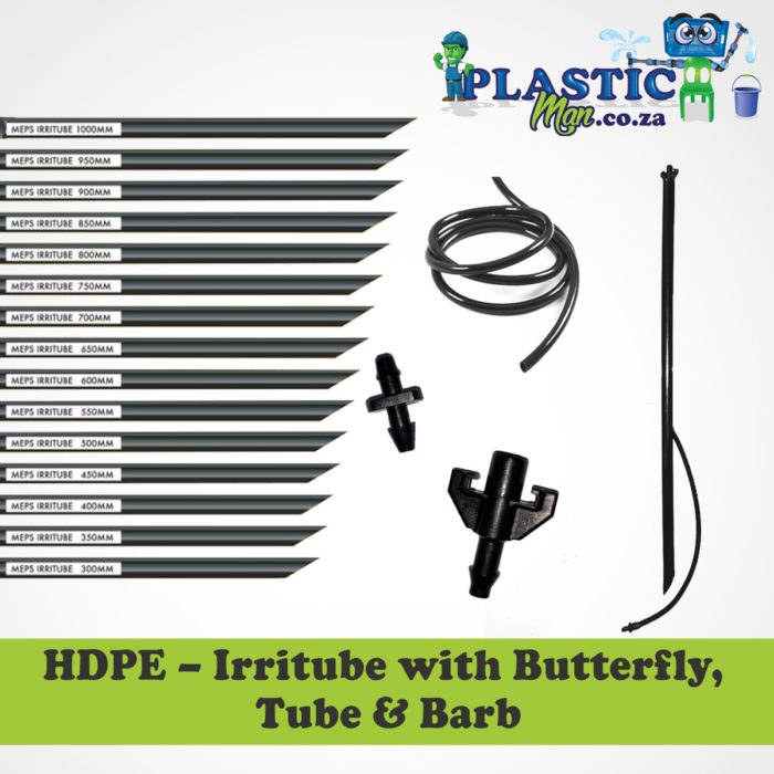 Plasticman HDPE- Irritube with butterfly, tube and barb