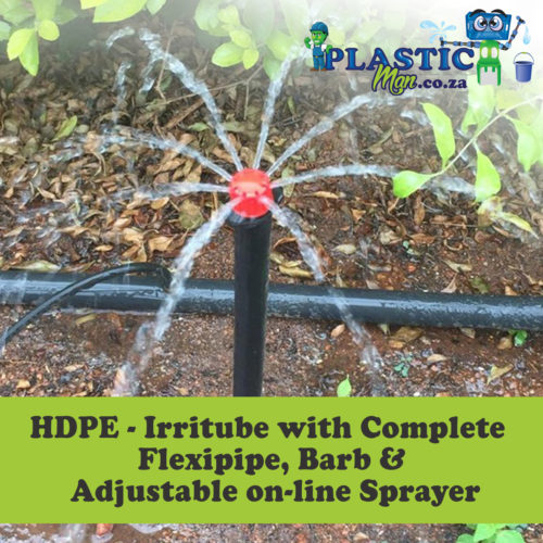 HDPE - Irritube with complete flexipipe, barb and adjustable on-line sprayer
