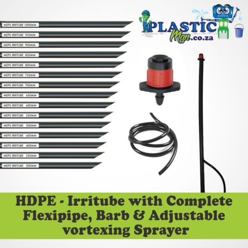HDPE - Irritube with complete Flexipipe, barb & adjustable vortex sprayer