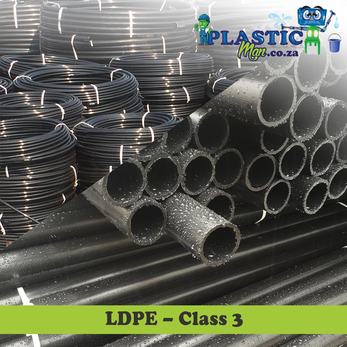 Plasticman LDPE Class 3 pipe