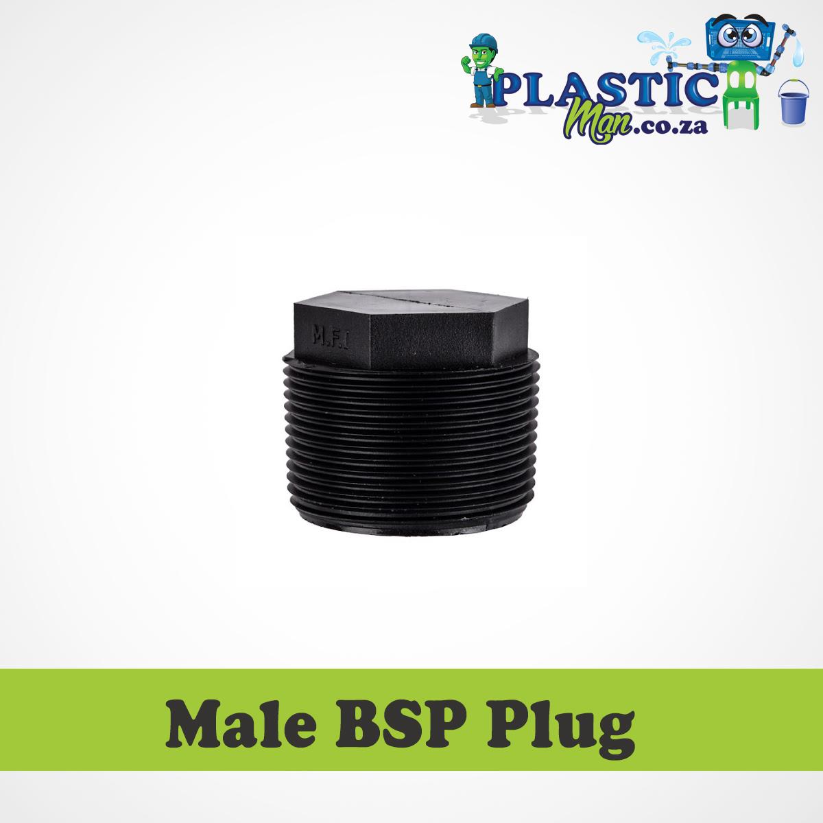 Plasticman LDPE - Male BSP Plug