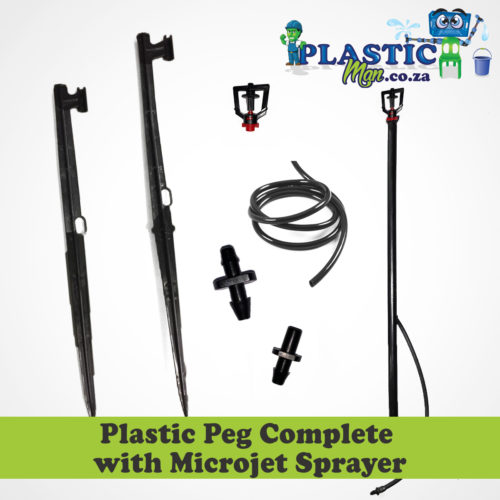 Plastic Peg with Complete Microjet Sprayer