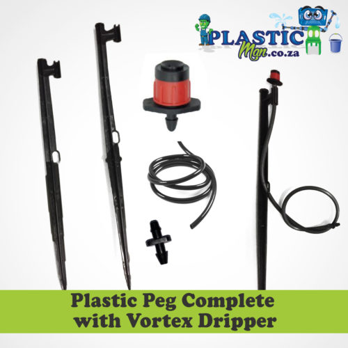 Plastic Peg with Complete Vortex Dripper