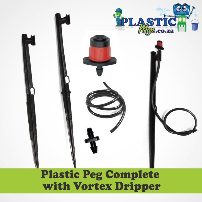 Plastic Peg with Complete Vortex Dripper