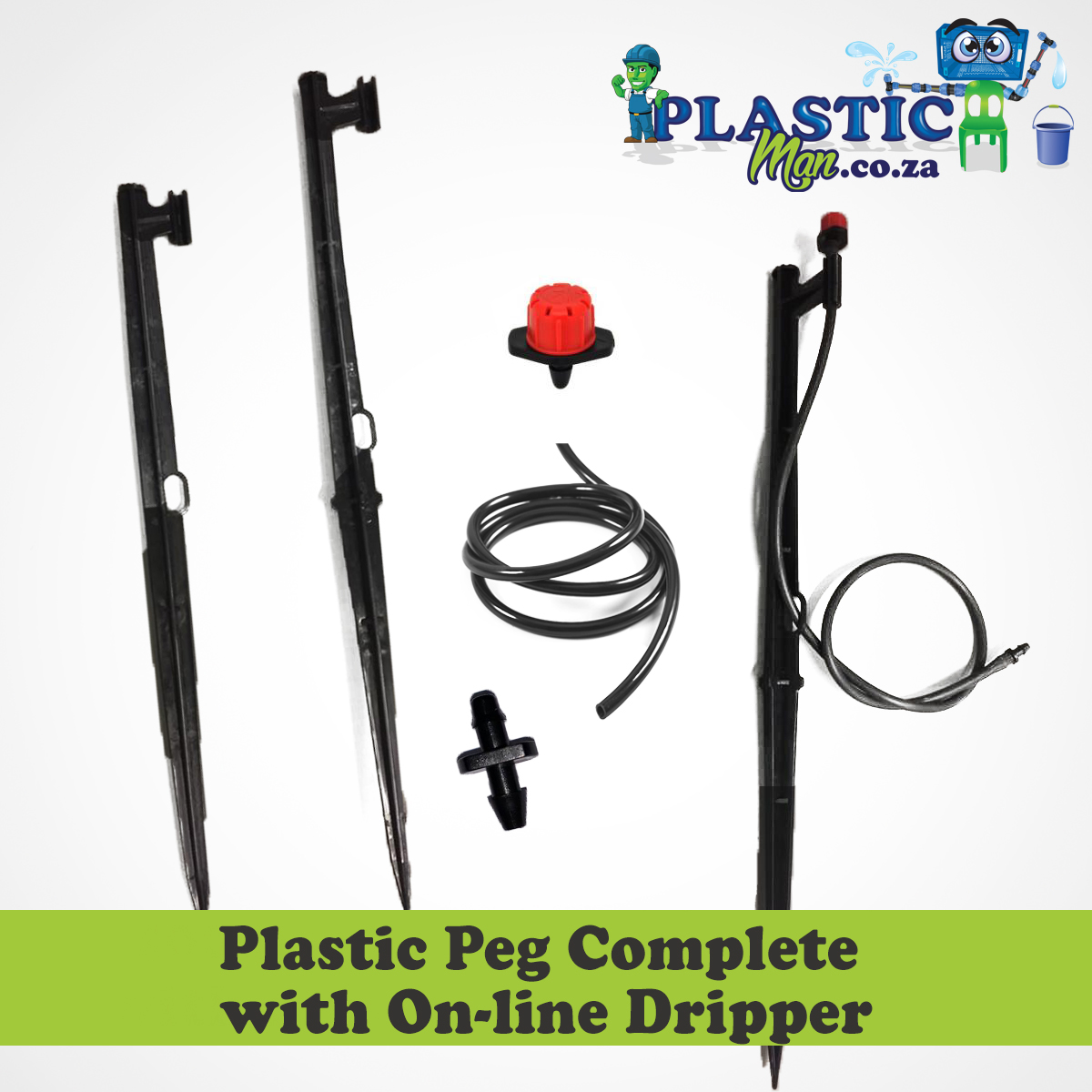 Plastic Peg with Complete on-line Dripper
